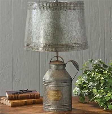 $158.05 • Buy PRIMITIVE ANTIQUE MILK CAN LAMP With TIN SHADE BY PARK DESIGNS/COUNTRY LIGHTING