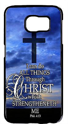 $ CDN19.97 • Buy Cross Christian Bible Verse Rubber/Hard Case Samsung Galaxy S6 Edge/Plus Note 5