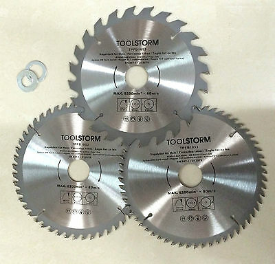 AU32.99 • Buy *3PC Circular Saw Blades 185mm 24T,48T,60Teeth 30MM BORE With 3 Reduction