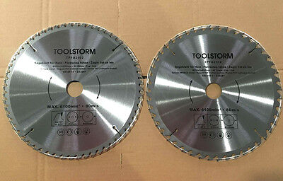 AU32.67 • Buy **2PC Circular Saw Blades 250mm 48T,60Teeth 30MM BORE With 2 Reduction TCT CUTTI
