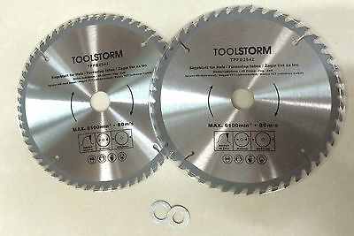 AU43.99 • Buy **2PC Circular Saw Blades 254mm TCT 48T,60Teeth 30MM BORE With BUSH 25.4/20/16