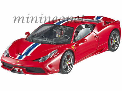 Hot Wheels Elite  Bly31 Ferrari 458 Speciale 1/18 Diecast Model Car Red • 145.49£