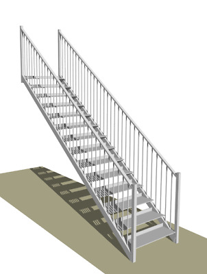 Steel Stairs: Fire Escape - Custom Made To Order • 1,630£