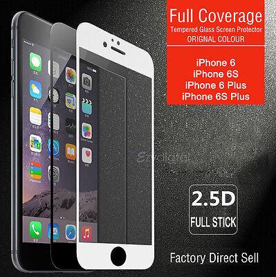 AU4.79 • Buy Full Coverage Tempered Glass Screen Protector For Apple IPhone X 6S 7 8 Plus