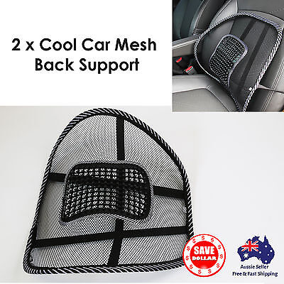 AU18.30 • Buy 2pc  Mesh Back Lumbar Support Car Seat Office Chair Truck Cushion Massager Home