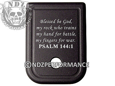 $19.99 • Buy For Glock Magazine Plate 17 19 22 23 26 27 34 35 9mm 40cal Bible Psalm 144:1