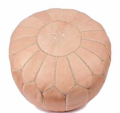 Moroccan Camel Hand Stitched Leather Pouffe • 59.99£