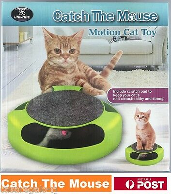 AU18.16 • Buy Motion Kitten Cat Toy Catch The Mouse Chase Interactive Cat Training Scratchpad