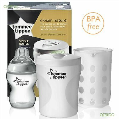£13.71 • Buy Tommee Tippee Single Baby Bottle Steriliser Travel Use With Microwave Or Tablet