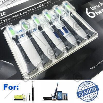 AU66.65 • Buy Black 6Pack Philips Sonicare W Diamond Clean Replacement Toothbrush Heads Set