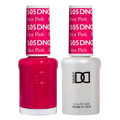 AU12.32 • Buy DND Daisy Duo Gel W/ Matching Nail Polish Lacquer -HOT PINK - 505