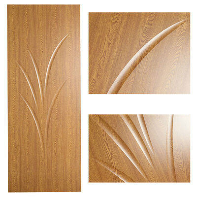 Internal Doors : New Light Oak Veneer Finish Wooden Door 78x(27-32)(STEM) • 49.99£