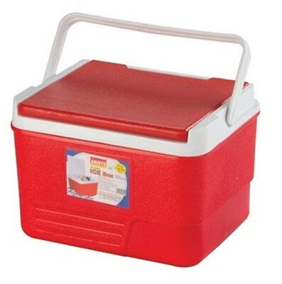 14l Coolbox Red Or Blue Cooler Box Camping Picnic Ice Food Insulated Travel • 19£