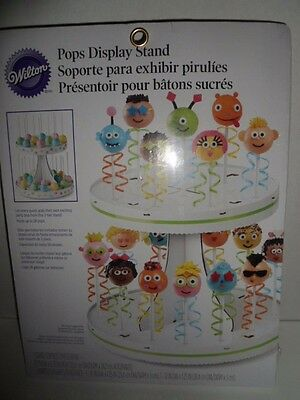 £8.48 • Buy Wilton Cake Pops Display Stand Holds 28 Pops NIP Party 2Tier Decorative Easter