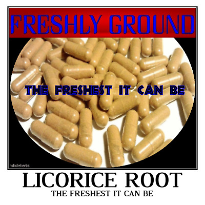 LICORICE ROOT Fresh Powder Freshest It Can Be Fresh 100 Vegetable Capsules • 7.95£