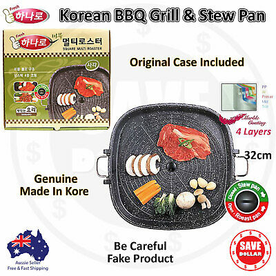 AU39.95 • Buy Portable Korean BBQ Grill Non Stick Marble Coating Gas Stove Stovetop Pan Plate