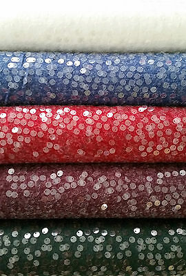 Cotton Viscose Jersey Fabric With Sequins, 5colours, Looking Like Knit, Sequined • 9.43£