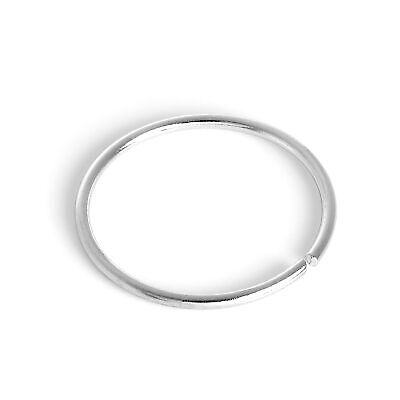 AU20.23 • Buy 9ct White Gold 8mm Nose Hoop Ring 375 Piercing Body Jewellery