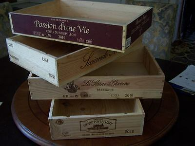 £13.95 • Buy French Flat Wooden Wine Crate Box -dinner Lunch Breakfast Tray Holder