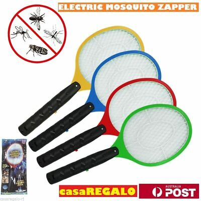 AU14.95 • Buy 2x Bug Zapper Electric Tennis Racket Mosquito Fly Swatter Killer Insect Handheld