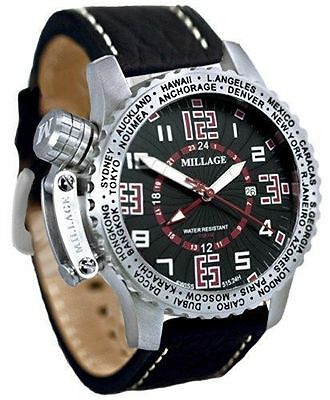 $1499.99 • Buy Millage Moscow Collection Men Wrist Luxury Watch - BLK-RD-BLK-LB