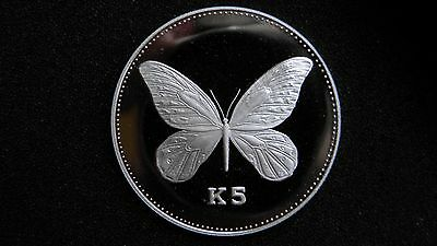 $135 • Buy 1992 Papua New Guinea 5 Kina Alexandria Butterfly Silver Proof Coin RARE