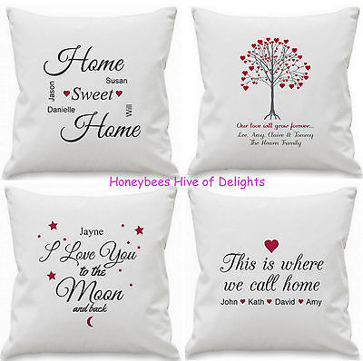 PERSONALISED Cushion Cover Gift Idea For Wedding Couple HOME Decor Birthday Xmas • 14.49£