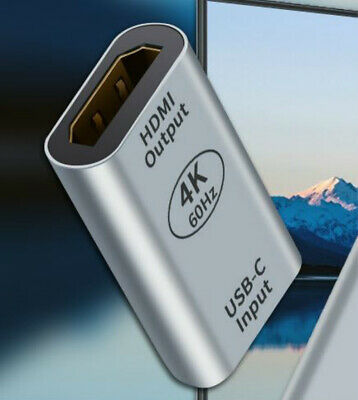 AU19.99 • Buy USB-C Female To HDMI Female Adapter 4K@60HZ Suitable For MacBook Mobile To TV