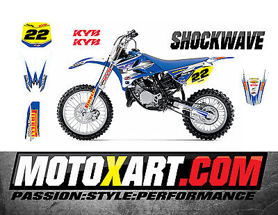 AU149.40 • Buy YAMAHA YZ 85 - 2015 - 2020 SHOCKWAVE Style Stickers Kit Full Custom Graphics