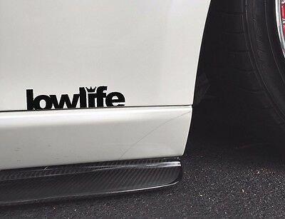 $2.76 • Buy Lowlife Jdm Racing Decal Sticker Low Life Slammed Lowrider Window Bumper Domo