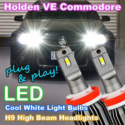 AU79.95 • Buy #H81 Pair Of H9 LED Headlight Bulbs For Holden VE Commodore High Beam SS SSV HSV