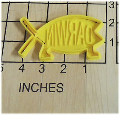 Darwin Fish Shape Fondant Cookie Cutter And Stamp #1099 • 3.06£