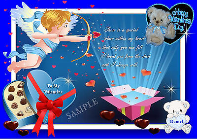 AU12.95 • Buy Personalised Valentines Day Card/placemat A4 Size Keepsake Gift Laminated