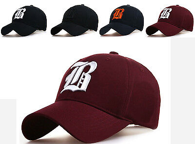 Baseball Cap New Cotton Mens  Women  Hat Letter B Unisex Black Hats Casual Hat  • 6.99£