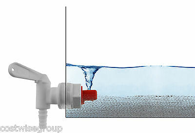 White Lever Tap With SEDIMENT SEPARATOR For Home Brew Wine Fermentation Bucket  • 7.42£