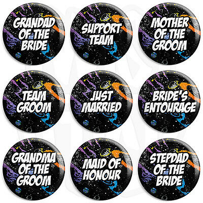 £1.99 • Buy Space Wedding - Various Designs - 25mm Button Badge With Fridge Magnet Option