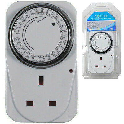 Energy Saver 7 Day Digital Electric Power Programmable Timer Switch Plug Socket • 6.96£