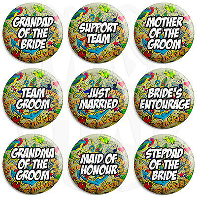 £1.49 • Buy Tattoo Wedding - Various Designs - 25mm Button Badge With Fridge Magnet Option