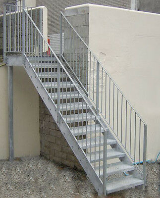Steel Stairs: Fire Escape (Private Stair) - Custom Made To Order • 2,765£