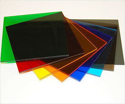 £1.99 • Buy Tinted Colour Perspex Acrylic Plastic Sheet Cut To Size Window Transparent Glass