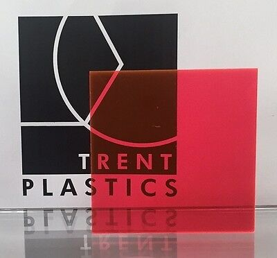 £1.99 • Buy Pink Tinted Perspex Acrylic Plastic Sheet Cut To Size Tint Cast Coloured Transpa