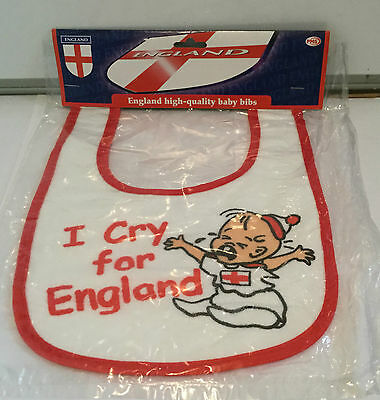 £4.99 • Buy I Cry For England Fan Baby Bib - Birthday - Father's Day - Christmas Gift