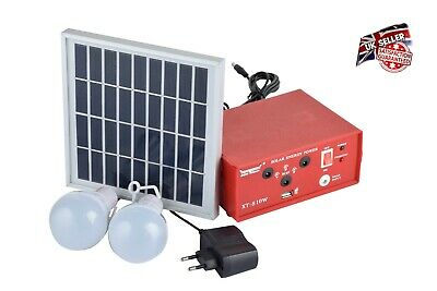 Outdoor Solar Power Panel LED Light Lamp USB Charger Home System Kit Garden Path • 34.99£