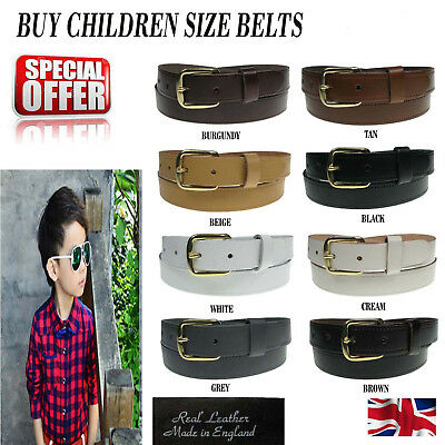 $7.80 • Buy Children Leather Belts 1  New Handmade In England Jeans Trouser Belts