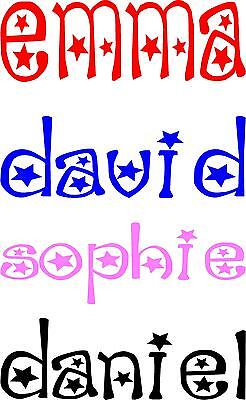 Personalised Name With Stars - Bedroom Door - Wall - Toy Box - Cot Vinyl Sticker • 3£