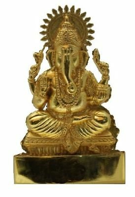 Ganesh 6   ANTIQUE METAL SMALL STATUE CAR HOME HINDU IDOL MURTI MANDIR • 5.99£