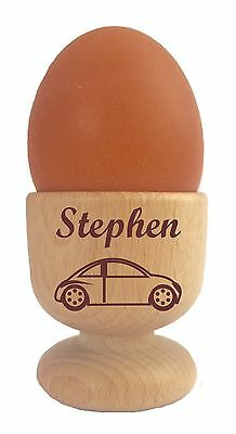 £10.95 • Buy Personalised Wooden Dippy Egg Cup Car And Any Name Easter Birthday Christmas