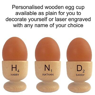 £6.95 • Buy Personalised Scrabble Wood Egg Cup 110942 Any Name Birthday Christmas Child Gift