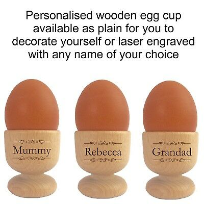 £8.95 • Buy Personalised Egg Cups 110942 Mum Dad Family Couples Christmas Gift For Him Her