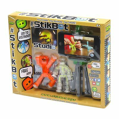 Stikbot Studio Pets - Kids Stickbots Stop Motion Animation App Movie Making Toy • 15.25£